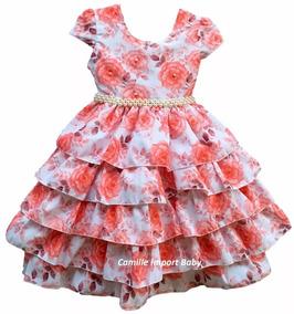 Vestido Infantil Moda Evangélica 4 Ao 16 E Tiara