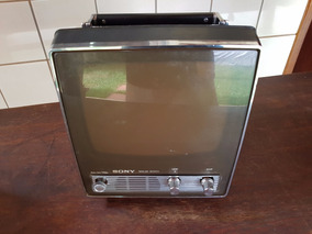 Televisão (tv) Sony Preto E Branco - Funcionando