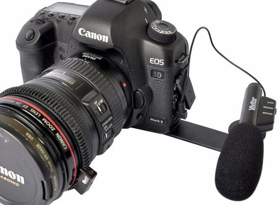 Microfone Zoom P/ Câmera Dslr Canon / Nikon - Vivitar