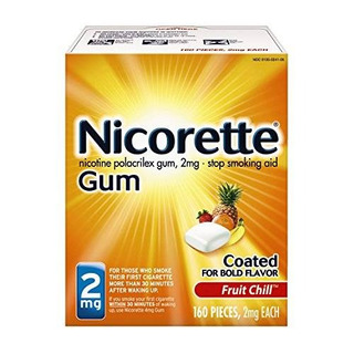 La Nicotina Nicorette Goma De La Fruta Chill 2 Miligramos Pa