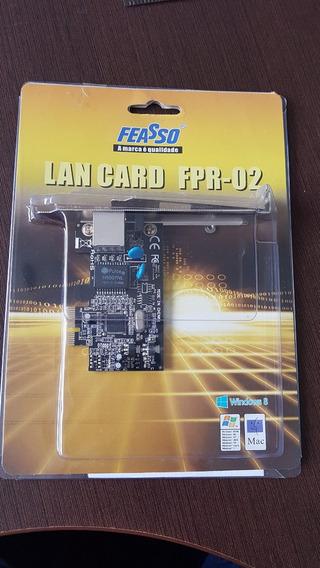 Placa De Rede Pci Exp Feasso Lan Card Fpr-02 Low Profile