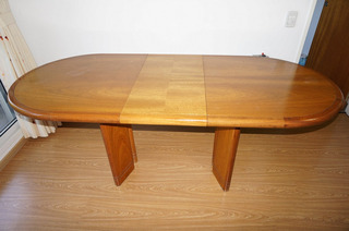 Mesa Roble Oval Extensible 1.50 A 1.90 Mts X 0.83 Mts