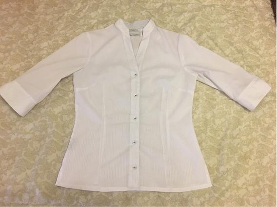 Camisa Clasica Blanca Mujer Manga 3/4