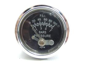 Medidor De Pressão De Óleo Auto Gauge Alpha 58mm 0-100 Psi