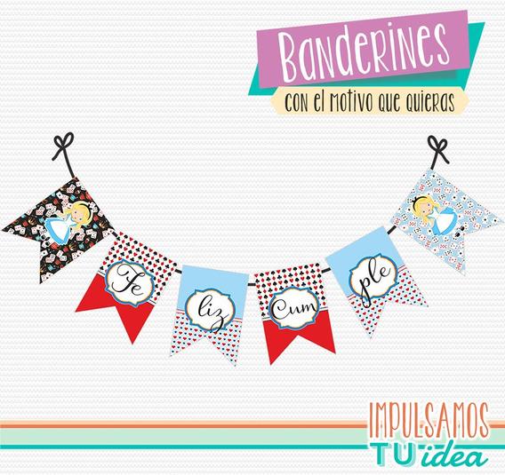Alicia En El Pais De Las Maravillas - Banderín Alicia