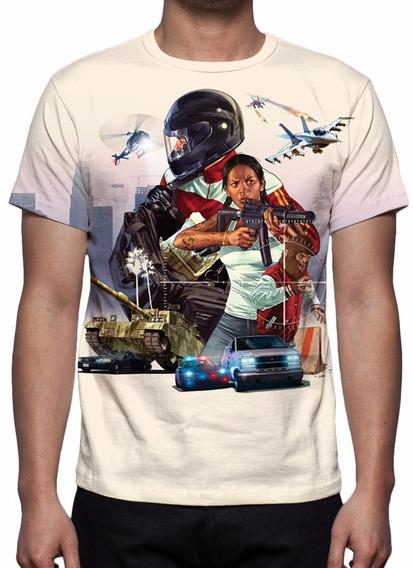 Camisa, Camiseta Gta 5 Mod 04 - Estampa Total