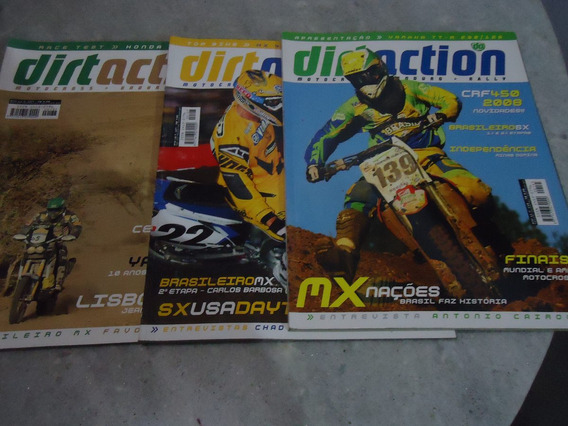 Lote Revista Dirt Action Motocross Enduro Rally - 03 Edições