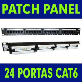 Patch Panel 24 Portas Cat6 Rj45 Certifica Fluke Rack 19 Guia