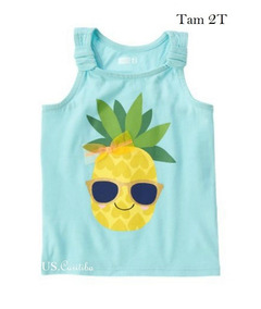 Camiseta Crazy8 Abacaxi Tam 2t 2 Anos Importado Eua