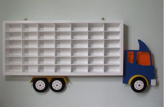 Estante Organizadora Para Carrinho Hot Wheels Quarto Menino