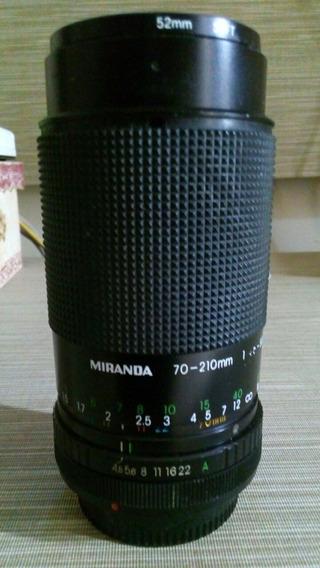 Lente Zoom Cânon Miranda 70-210mm Analógica, Abertura Macro
