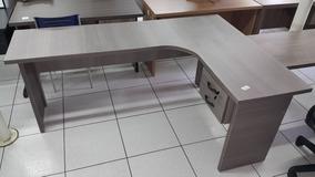 Mesa Ele Estação De Trabalho Borda 30mm 02 Gavetas Branca