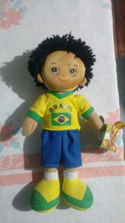 Boneco Do Brasil Chaveiro Para Colecionador
