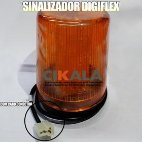 Sinalizador Luminoso Digiflex Base Magnética Imantada 12vcc