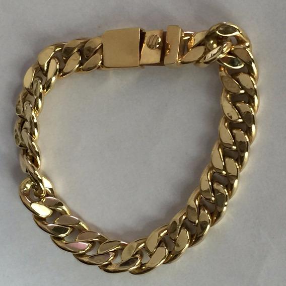 Pulseira Em Ouro 18k-750 Peso: 21.9 G Tam: 20 Cm-unisex.