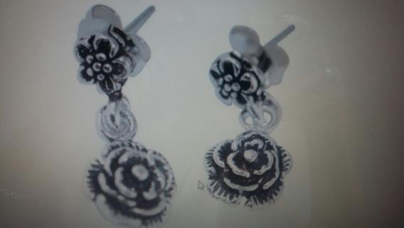 Brinco Flor Em Prata 925