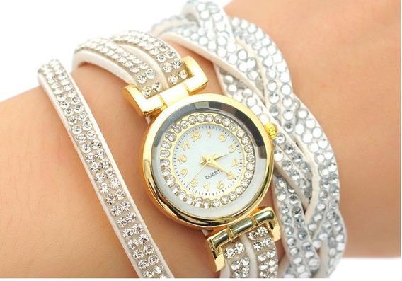 Relógio Pulseira Feminino Strass