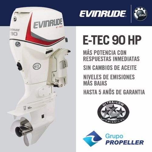 Motor Nautico Fuera De Borda Evinrude E-tec 90 Hp 0km 2020