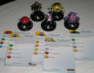 Lote De 5 Figuras Heroclix Yu Gi Oh Muy Raros 2014 Unicos!!!