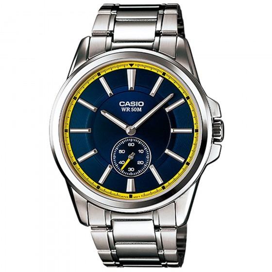 Relógio Casio Mtp-e101d-2avdf Prata Masculino - Refinado