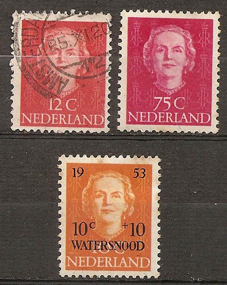 Holanda Nederland Series 2v+1v Yvert 587/8 + 589 Usado+ Mint