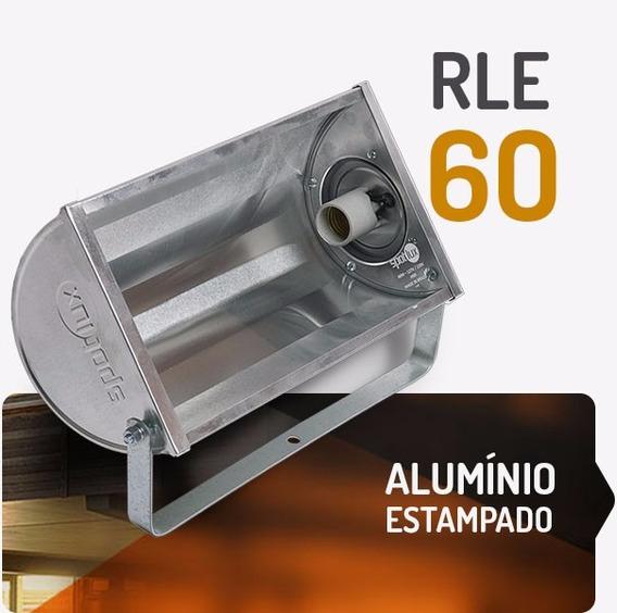 Refletor Alumínio Rle 60w E27 Spotlux Retangular Sem Lampada
