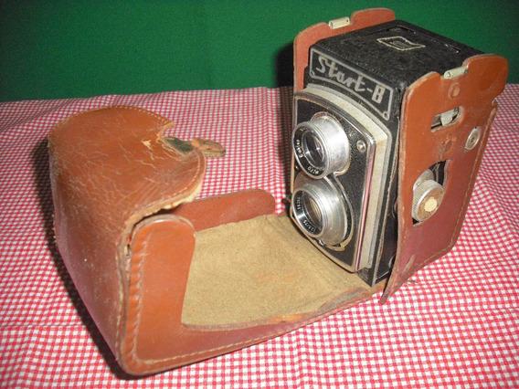 Câmera Fotográfica Antiga Couro Start-b Importada