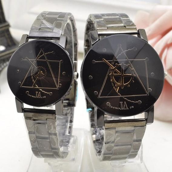 Quartz Relógio De Pulso Lovers Watch - Preto E Branco