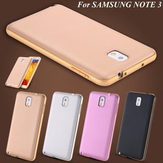 Capa Case Bumper Alumínio Samsumg Galaxy Note 2 C/ Fundo New