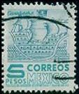 2692 Arqui 2° E Mex- Mex Hz Scott#883a 5pesos Usado N H 1955