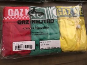 Kit De 3 Cuecas / Marca Gaz Neutro /p