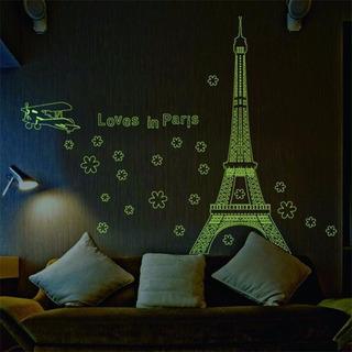 Torre Eiffel Vinil Decorativo Fluorecente