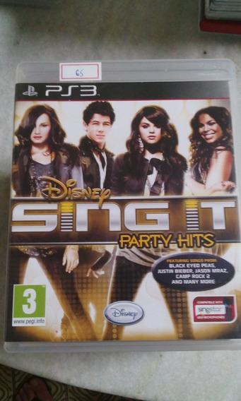 Sony Ps3 Disney Sing It Party Hits Original Lote65