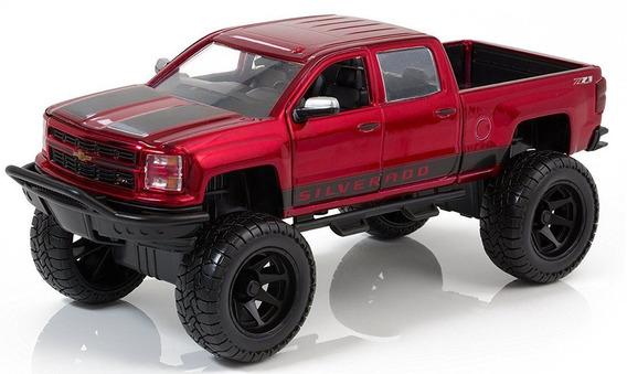 Pick-up Chevy Silverado Off-road 1:24 Jada Vinho Truck Ford