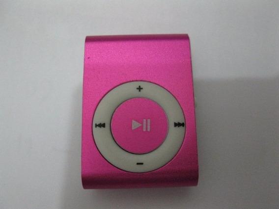 Mini Leitor Leitor Tf Sd - Função Mp3 Com Clipe Pink