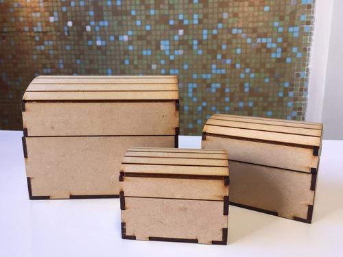 Cofre Souvenir Fibrofacil Corte Láser. Excelente 13,5x9,5x10