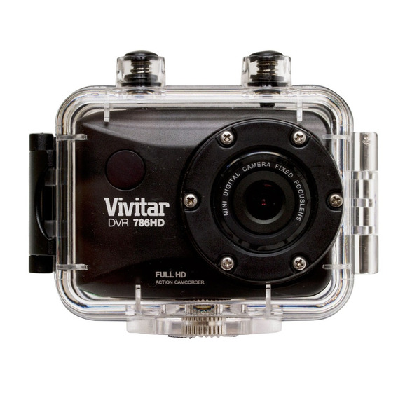 Camera De Acao Hd Preta Vivitar A Prova Dagua - Dvr786hd
