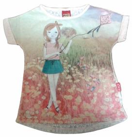Camiseta Bebe Kyly Feminino Tam 1