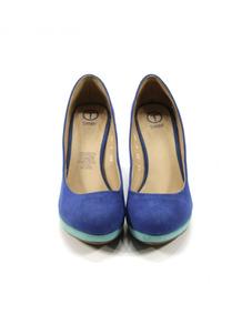 Zapatos Azul Y Verde Trender