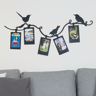 Portaretratos Para 5 Fotos Pajaros Negro
