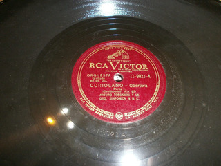 Disco Pasta Antiguo 78 Rpm, Beethoven: Obertura Coriolano