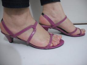 Sandalia Salto Baixo Tiras Rosa Tam 36 Usado Ótimo Estado