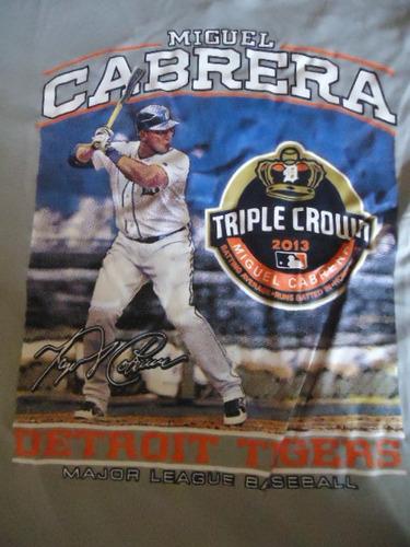 Franelas Miguel Cabrera Triple Corona. Marca Majestic