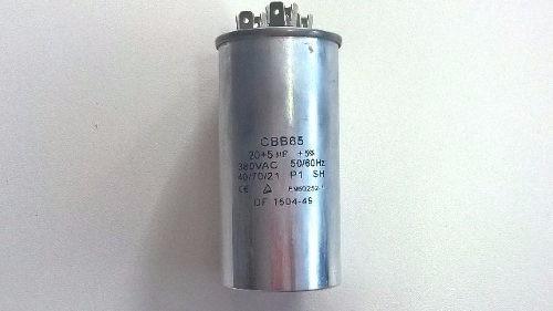 Capacitor Duplo Aluminio 20 + 5uf ±5% 380vac Suhyra