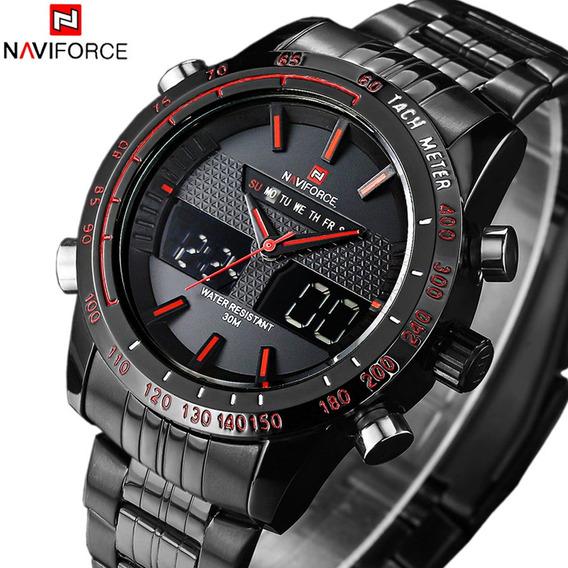 Reloj Naviforce Original Led De Acero Inox - 2 Modelos Disp.