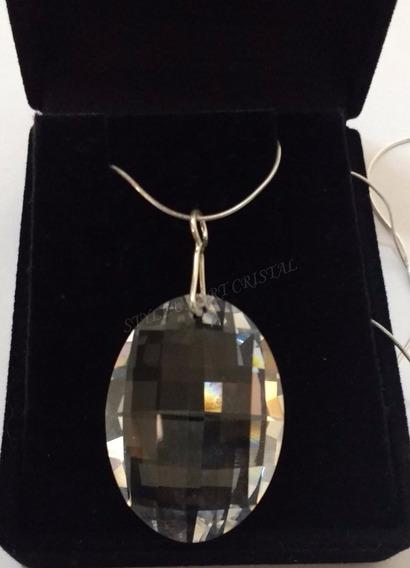 Colar Matrix Cristal Swarovski Em Prata 925 - 3,2 Cm