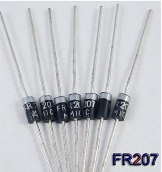 10 Diodo Fr207 2a Diodo 1000v R$ 12,00