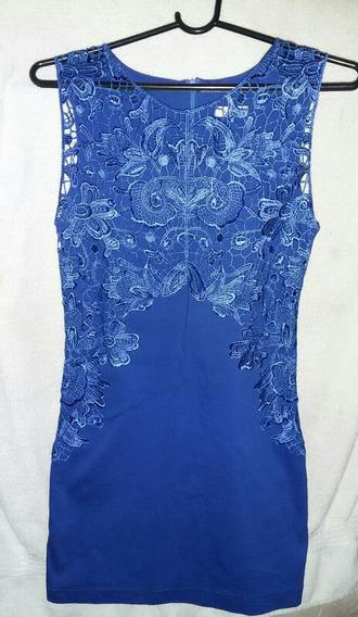 Vestido Tubinho Azul. Tamanho P