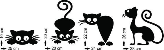 Adesivo De Parede Gatos Animal