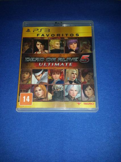 Dead Or Alive 5 Ultimate Ps3 Frete R$10